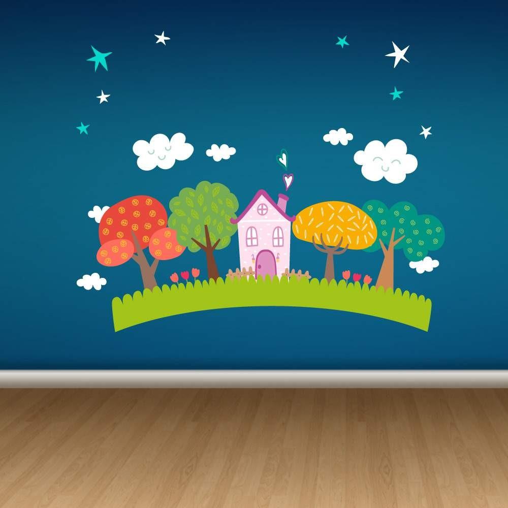26e899202ce Παιδικό Αυτοκόλλητο Μικρό Σπίτι - Decotek 13287 | Decotek