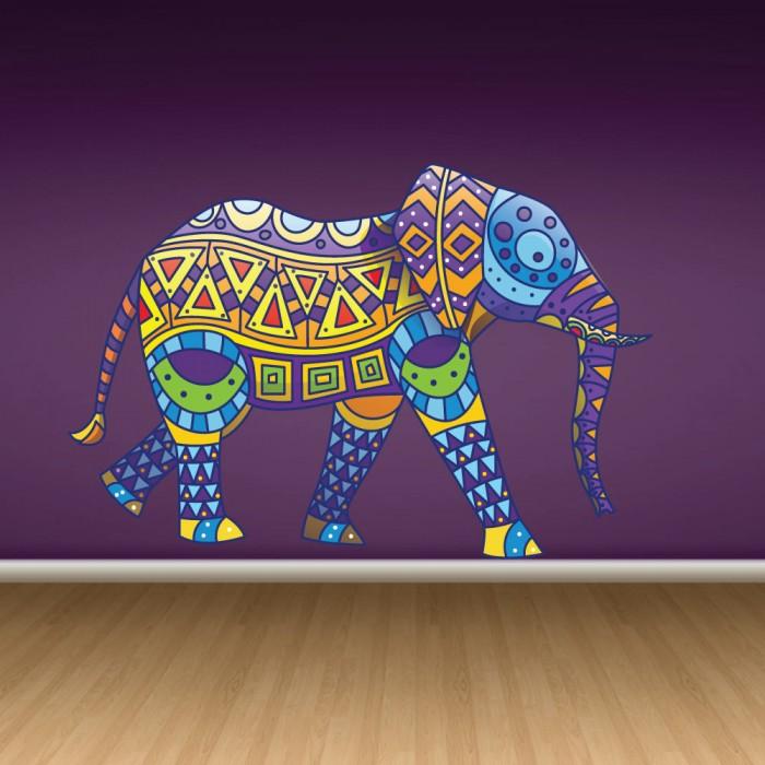 Παιδικό Αυτοκόλλητο Έθνικ Ελέφαντας - Decotek 11057