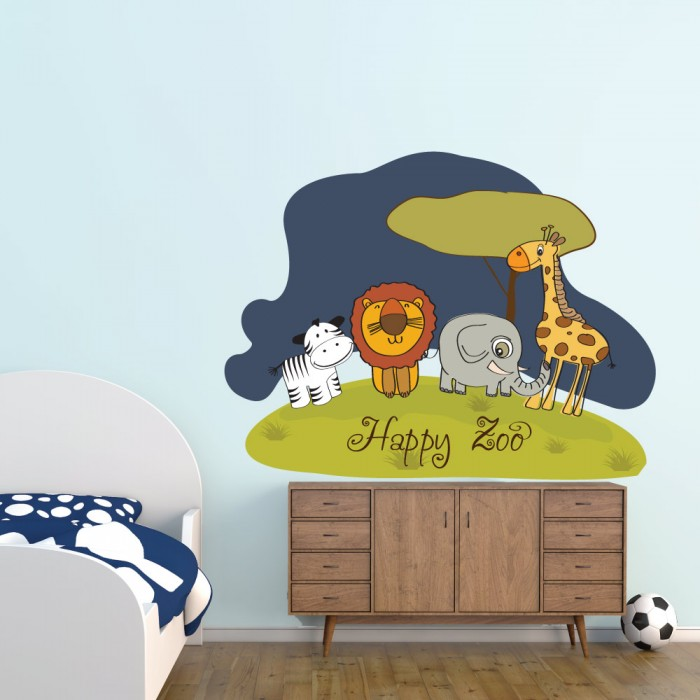 Παιδικό Αυτοκόλλητο Happy Zoo - Decotek 11063
