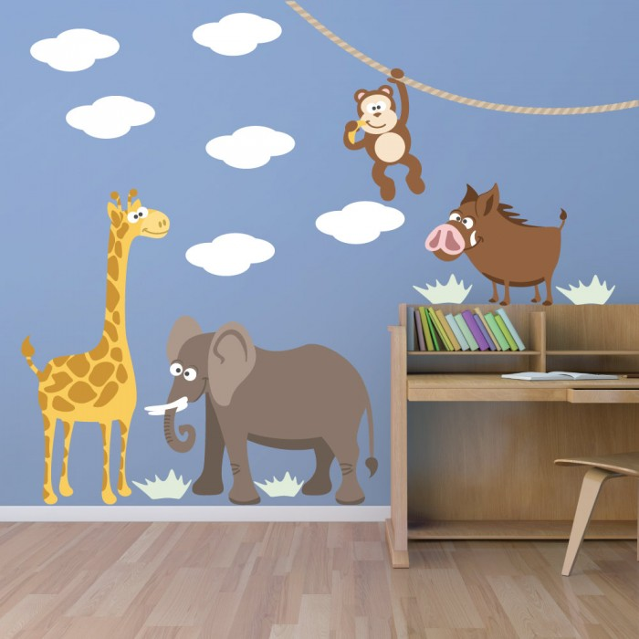 Παιδικό Αυτοκόλλητο Ζωάκια Ζούγκλας - Decotek 11064