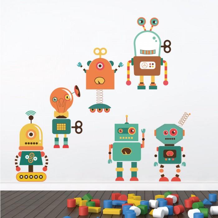 Παιδικό Αυτοκόλλητο Ρομποτάκια - Decotek 11069