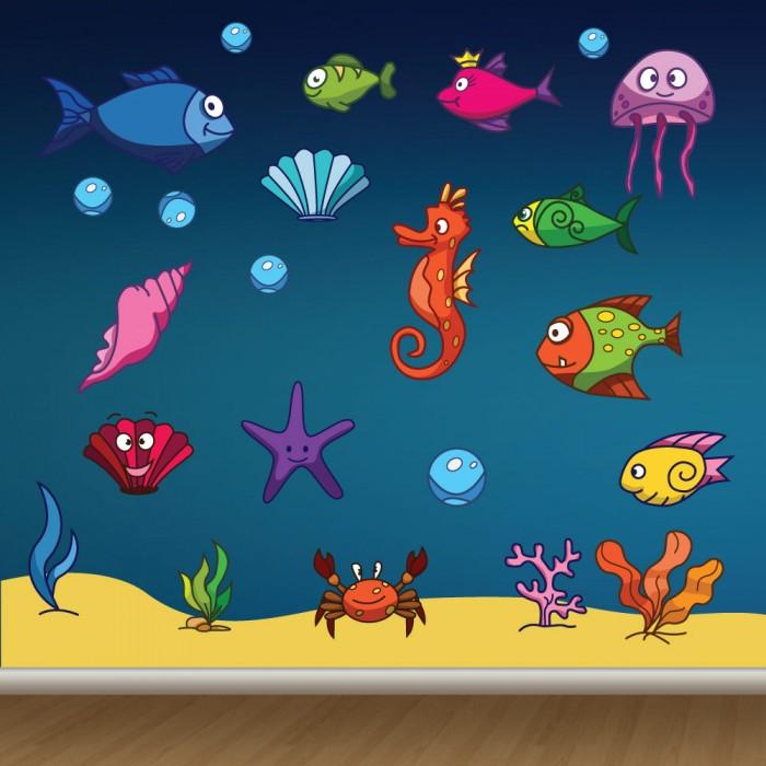 Παιδικό Αυτοκόλλητο Ψαράκια - Decotek 11070
