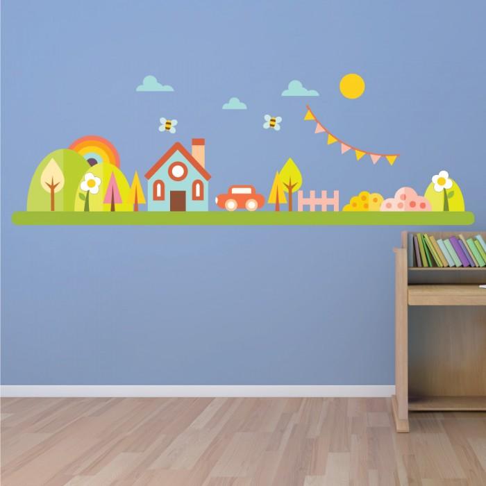 Παιδικό Αυτοκόλλητο Χαρούμενο Σπίτι - Decotek 11073