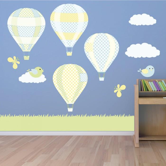 Παιδικό Αυτοκόλλητο Αερόστατα  - Decotek 11140
