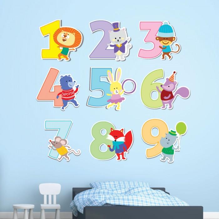 Παιδικό Αυτοκόλλητο Αριθμοί και Ζωάκια - Decotek 11141