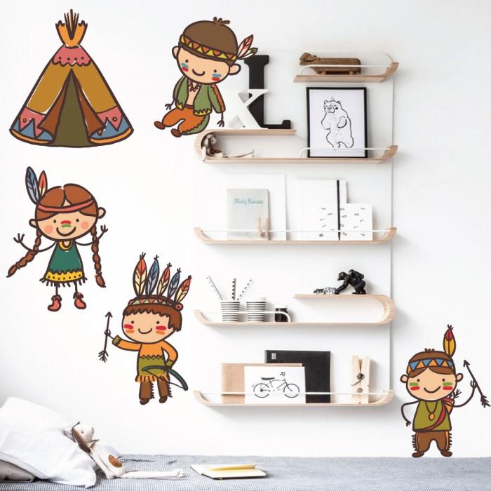 Παιδικό Αυτοκόλλητο Μικροί  Ινδιάνοι - Decotek 11149
