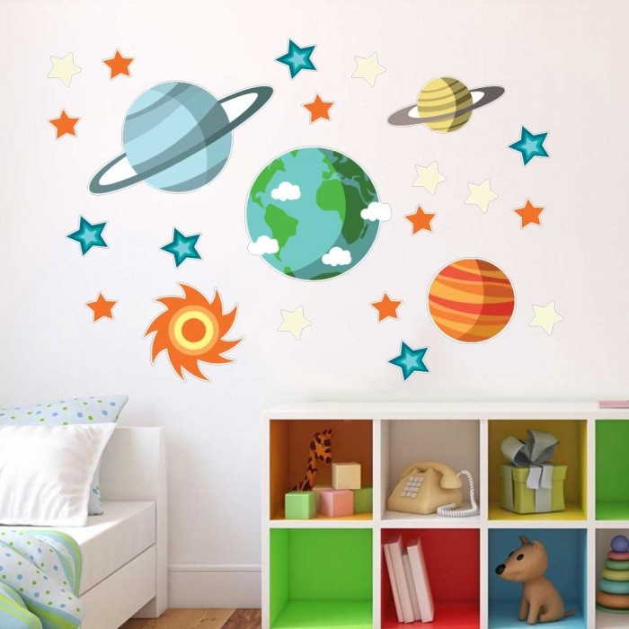 Παιδικό Αυτοκόλλητο Διάστημα και Αστέρια - Decotek 11155