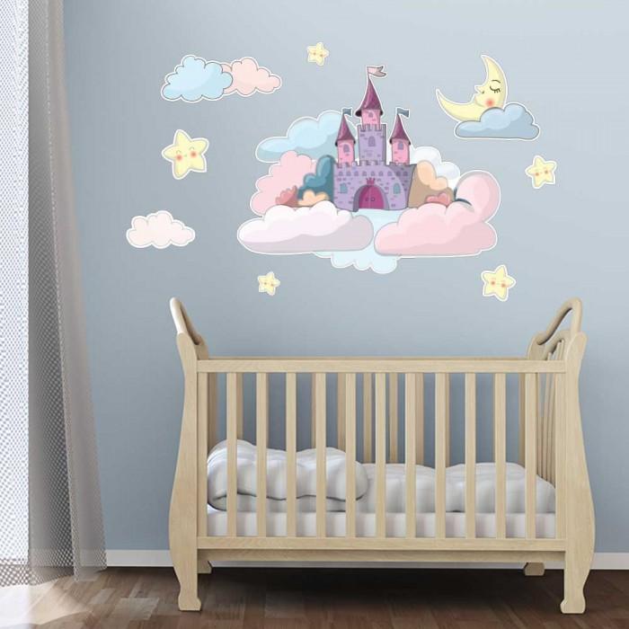 Παιδικό Αυτοκόλλητο Παλάτι στα Σύννεφα - Decotek 11159