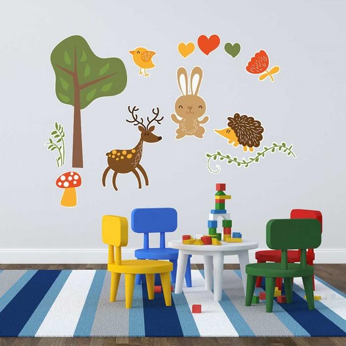 Παιδικό Αυτοκόλλητο Ζωάκια - Decotek 11160