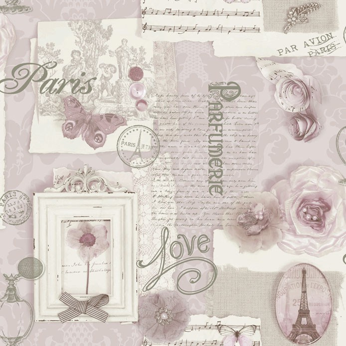 Ταπετσαρία Τοίχου Vintage, Γράμματα - Decotek 11382