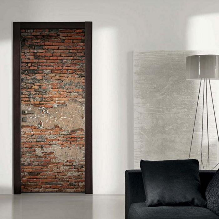 Αυτοκόλλητο Πόρτας Brick Wall - Decotek 15134