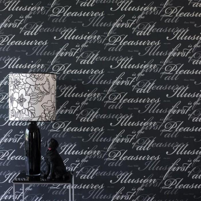 Ταπετσαρία Τοίχου Γράμματα - Eijffinger, Black & White - Decotek 397506