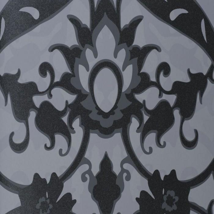 Ταπετσαρία Τοίχου Φλοράλ - Eijffinger, Black & White - Decotek 397542