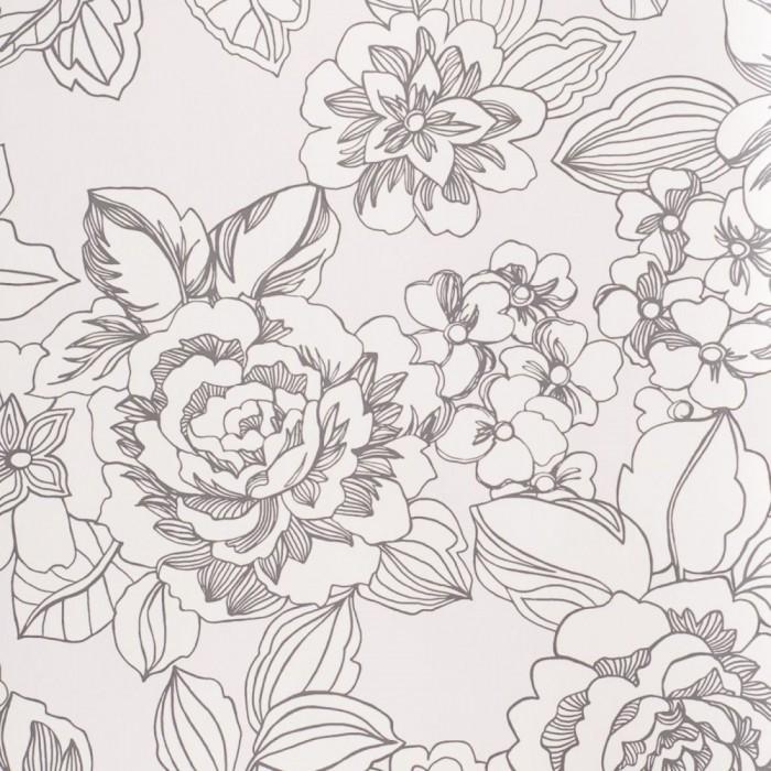 Ταπετσαρία Τοίχου Φλοράλ - Eijffinger, Black & White - Decotek 397550