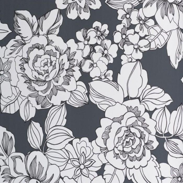 Ταπετσαρία Τοίχου Φλοράλ - Eijffinger, Black & White - Decotek 397551