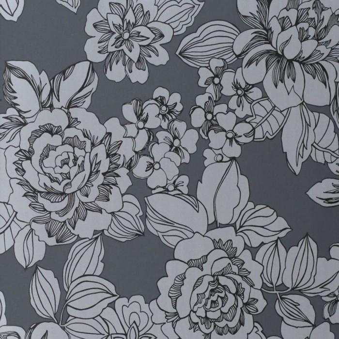 Ταπετσαρία Τοίχου Φλοράλ - Eijffinger, Black & White - Decotek 397552