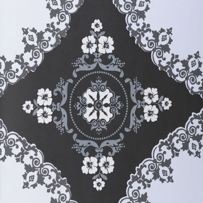 Ταπετσαρία Τοίχου Φλοράλ - Eijffinger, Black & White - Decotek 397571