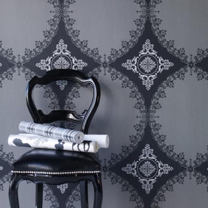 Ταπετσαρία Τοίχου Φλοράλ - Eijffinger, Black & White - Decotek 397572