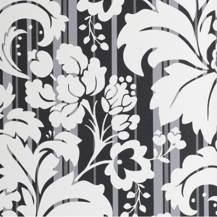 Ταπετσαρία Τοίχου Φλοράλ - Eijffinger, Black & White - Decotek 397600