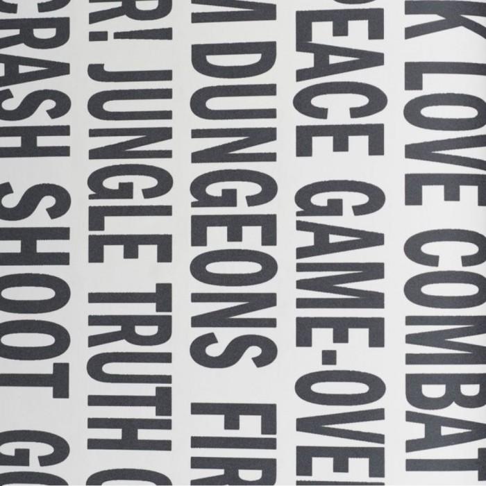 Ταπετσαρία Τοίχου Γράμματα - Eijffinger, Black & White - Decotek 397686