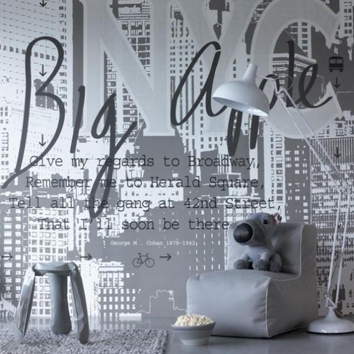 Ταπετσαρία Τοίχου Γράμματα - Eijffinger, Black & White - Decotek 397692
