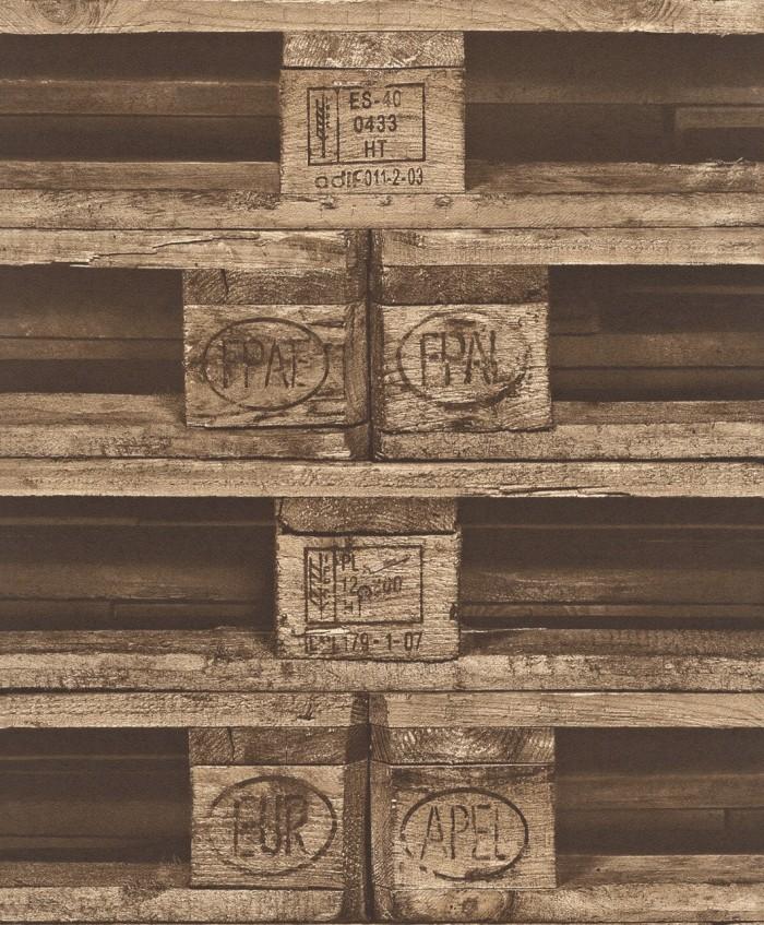 Ταπετσαρία Τοίχου Ξύλο, Παλέτες  - Rasch,Crispy Paper - Decotek 524116
