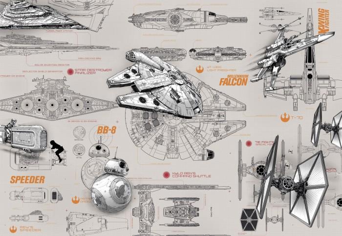 Παιδική Φωτοταπετσαρία Τοίχου Star Wars - Komar - Decotek 8-493