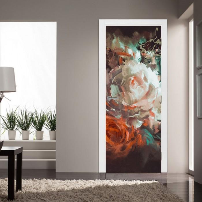 Αυτοκόλλητο Πόρτας Bouquet of Roses - Decotek 20200