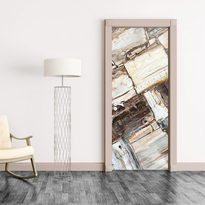 Αυτοκόλλητο Πόρτας Brown Stones - Decotek 20202