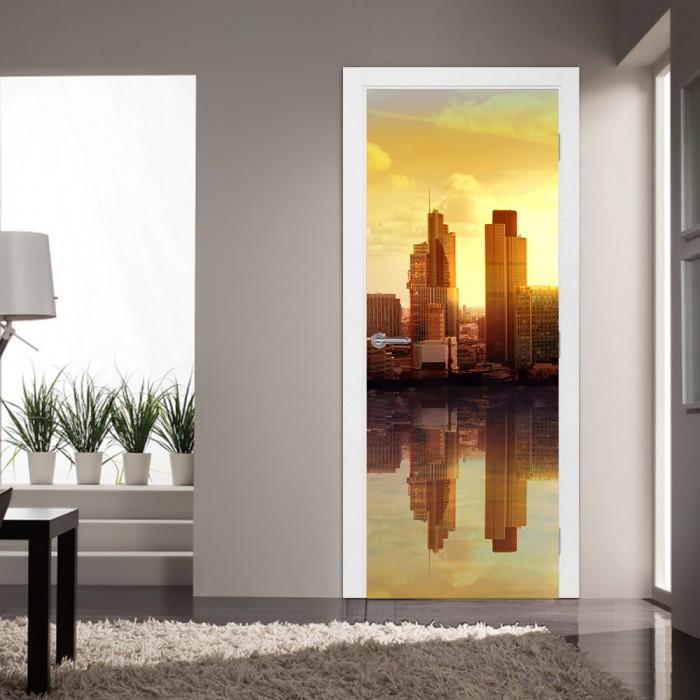 Αυτοκόλλητο Πόρτας City Reflections - Decotek 20204