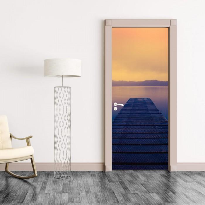 Αυτοκόλλητο Πόρτας Foggy Sunset - Decotek 20218