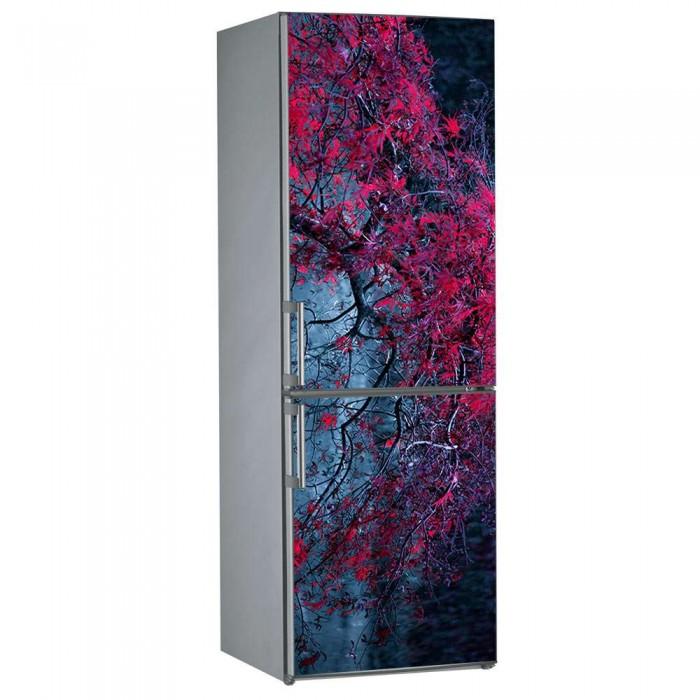 Αυτοκόλλητο Ψυγείου Red Flowers - Decotek 09835