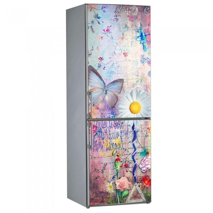 Αυτοκόλλητο Ψυγείου Λουλούδια  -Decotek 09848