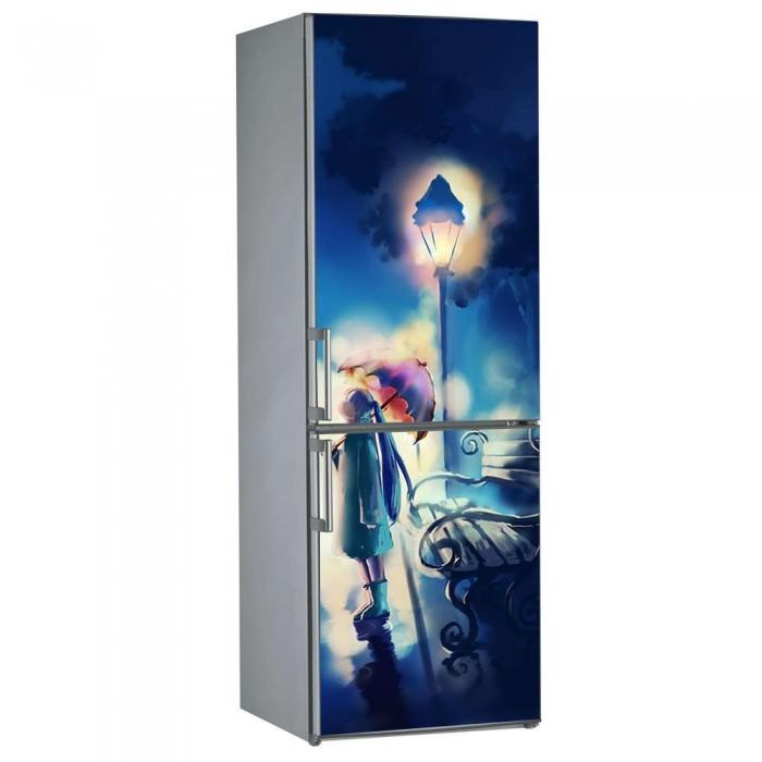 Αυτοκόλλητο Ψυγείου Κορίτσι με Ομπρέλα - Decotek 09860