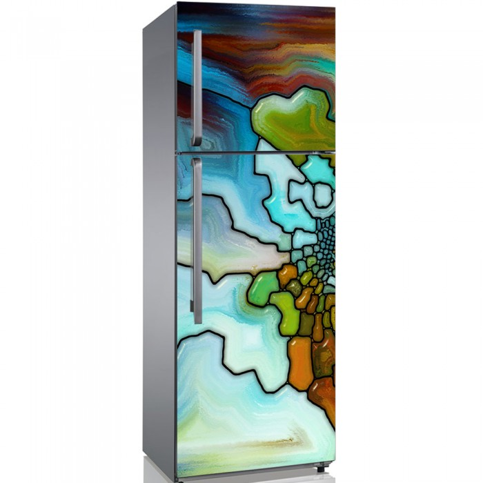 Αυτοκόλλητο Ψυγείου Glass Pieces - Decotek 19194