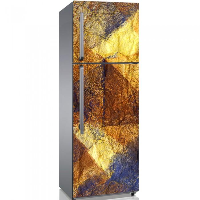 Αυτοκόλλητο Ψυγείου Gold Triangles - Decotek 19196