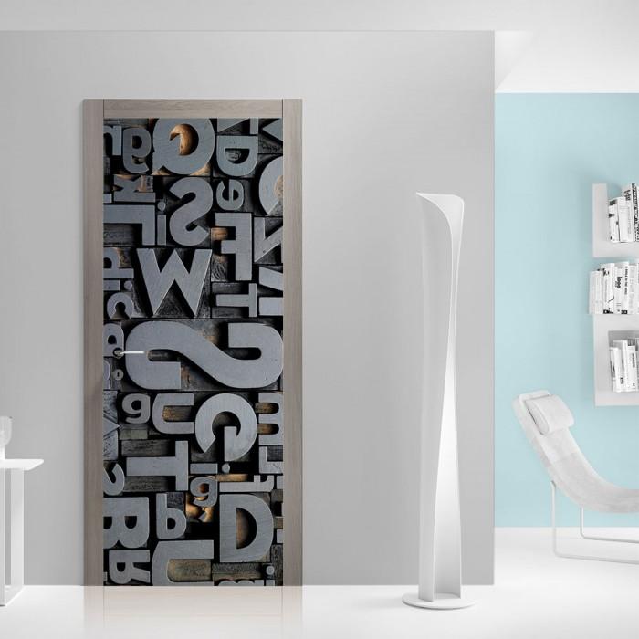 Αυτοκόλλητο Πόρτας 3D Typography - Decotek 20102