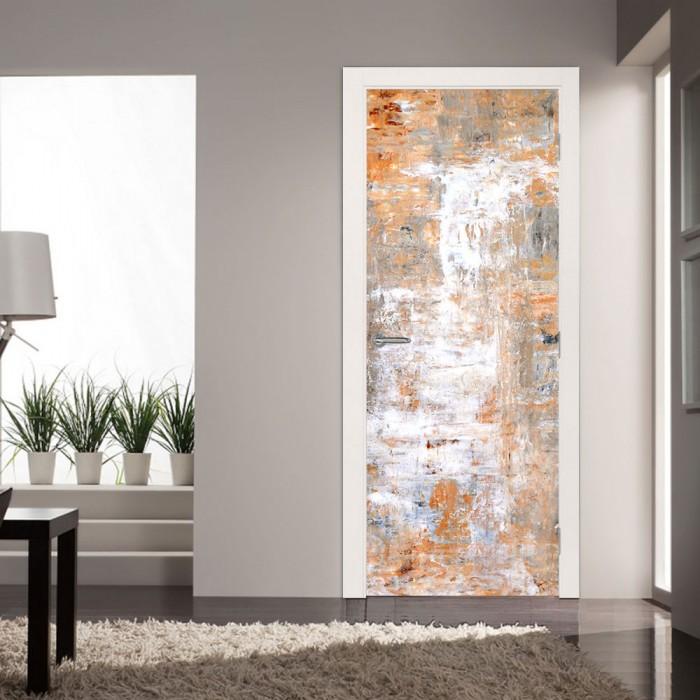 Αυτοκόλλητο Πόρτας Brown and White Art - Decotek 20115