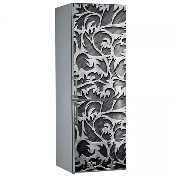 Αυτοκόλλητο Ψυγείου Metal Pattern - Decotek 15214