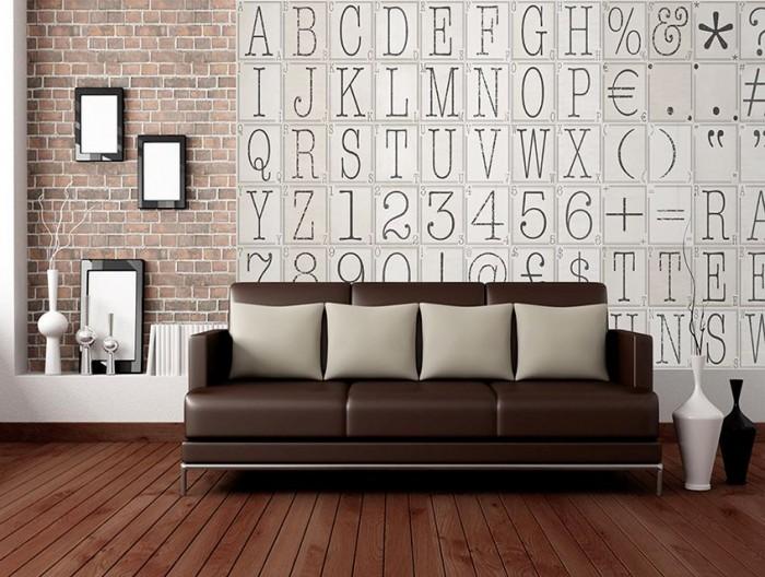 Φωτοταπετσαρία Τοίχου Κολάζ, Γράμματα, Αριθμοί και Σύμβολα  - 1wall - Decotek C64P-TYPO-002