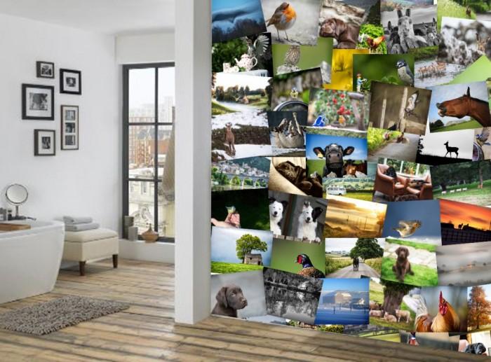Φωτοταπετσαρία Τοίχου Κολάζ Χωριό - 1wall - Decotek C64P-VILLAGE-001