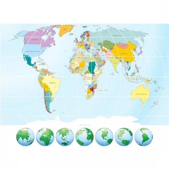 Παιδική Φωτοταπετσαρία Τοίχου Παγκόσμιος Χάρτης - A&G Design Group - Decotek FT 1454