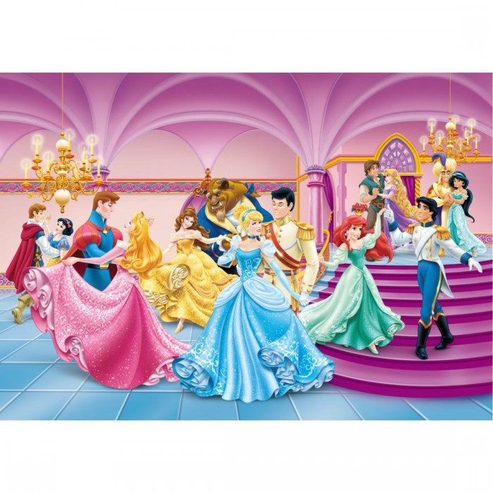 Παιδική Φωτοταπετσαρία Τοίχου Disney Princesses  - AG Design Group, Disney & Marvel Collection 2014 - Decotek FTD s 1928