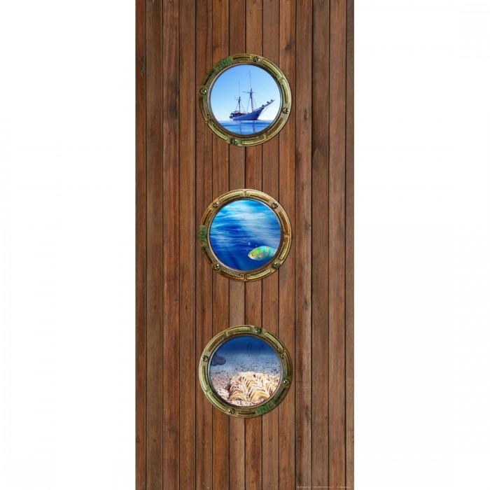 Φωτοταπετσαρία Πόρτας & Τοίχου Ξύλο - A&G Design Group - Decotek FTV 1516