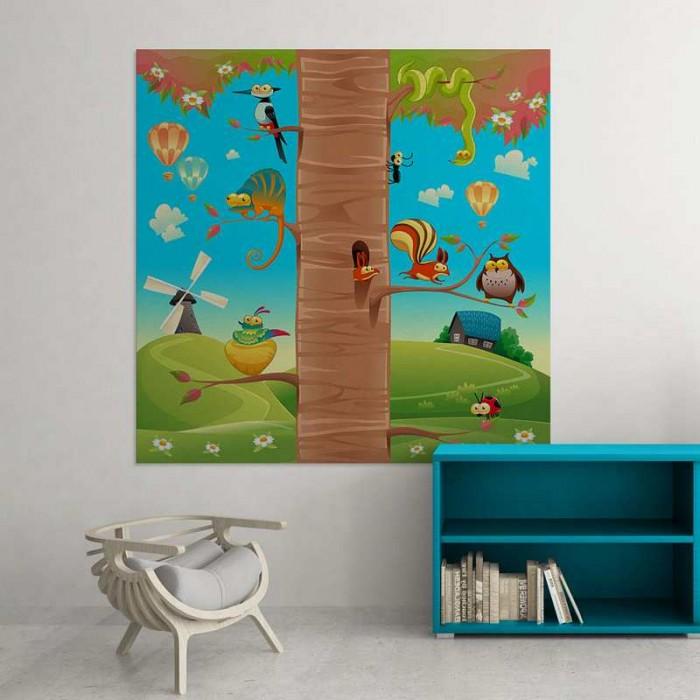 Παιδικός Πίνακας Ζωγραφικής Animals on Tree - Decotek 16005