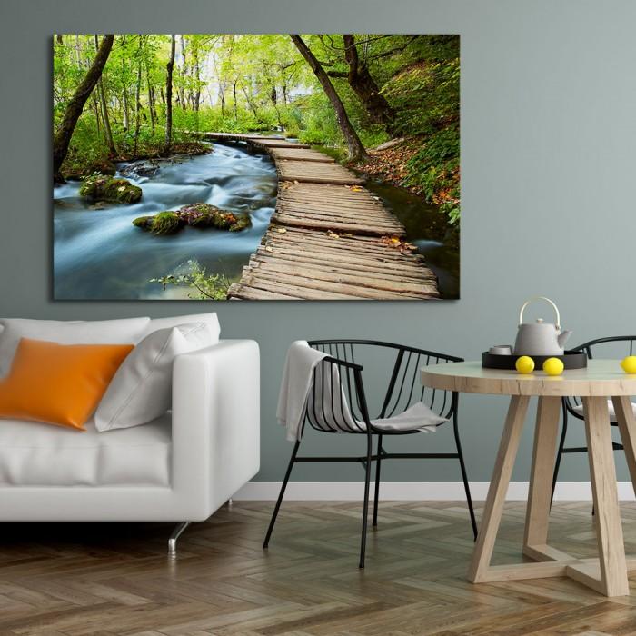 Πίνακας Ζωγραφικής Forest Wooden Path - Decotek 180898