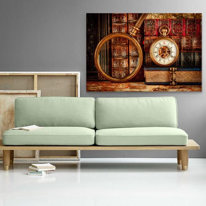 Πίνακας Ζωγραφικής Retro Clock and Book - Decotek 181043