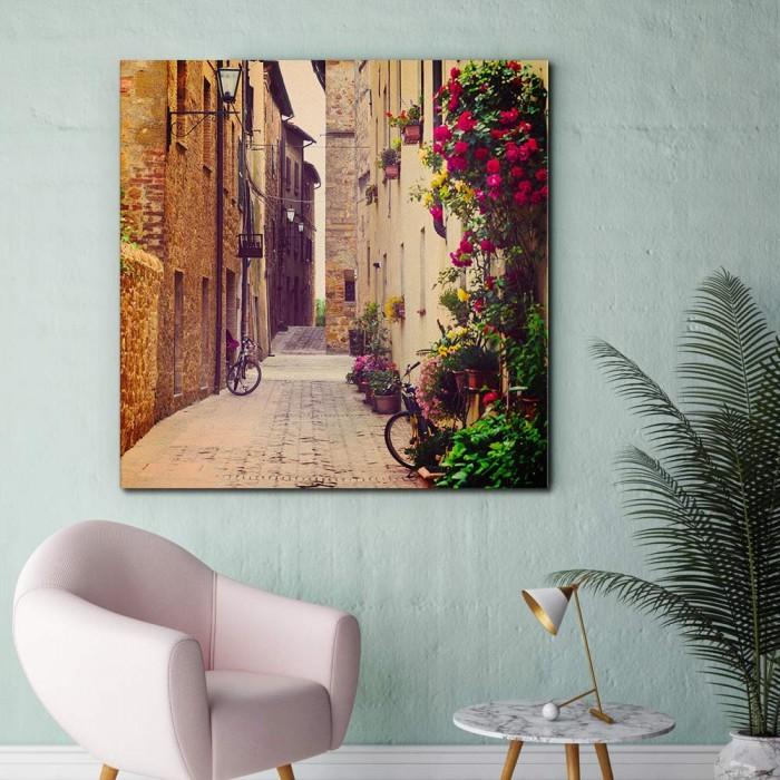 Πίνακας Ζωγραφικής Street in Pienza - Decotek 181067