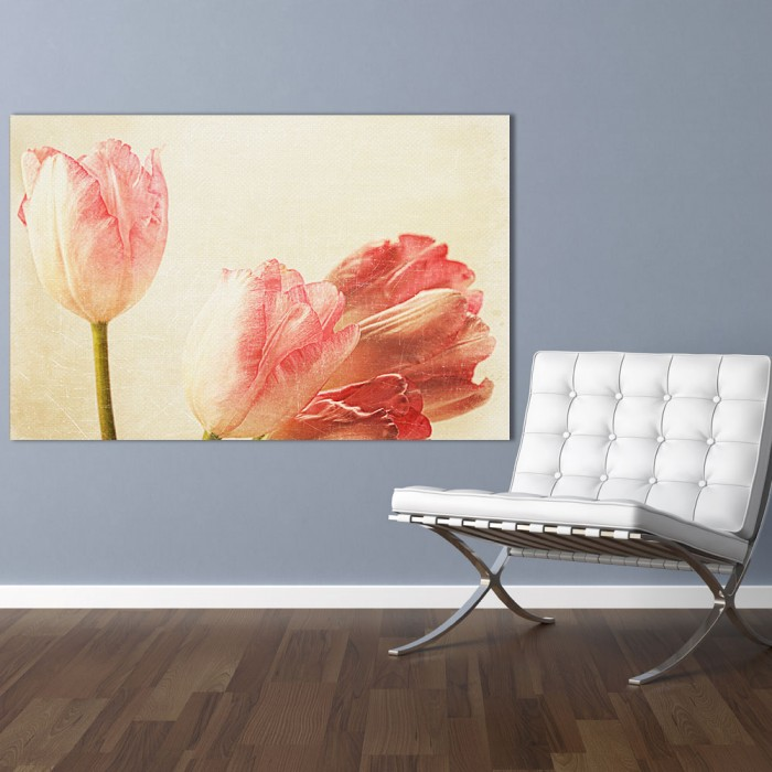 Πίνακας Ζωγραφικής Tulips With Old Vintage Feeling - Decotek 181095