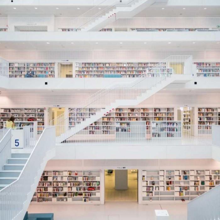 Φωτοταπετσαρία Τοίχου Βιβλιοθήκη - 1wall - Decotek W4P-LIBRARY-001